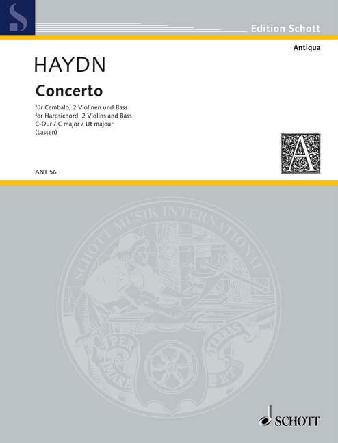 Concierto Placa. XIV  13 Haydn, Haydn, Haydn, Joseph puntuación y piezas clavicémbalo (piano), 2 violín  se descuenta